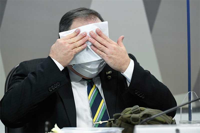 Eduardo Pazuello diz que não foi alertado pelo governo do Amazonas sobre crise do oxigênio (Foto: Jefferson Rudy/Agência Senado)