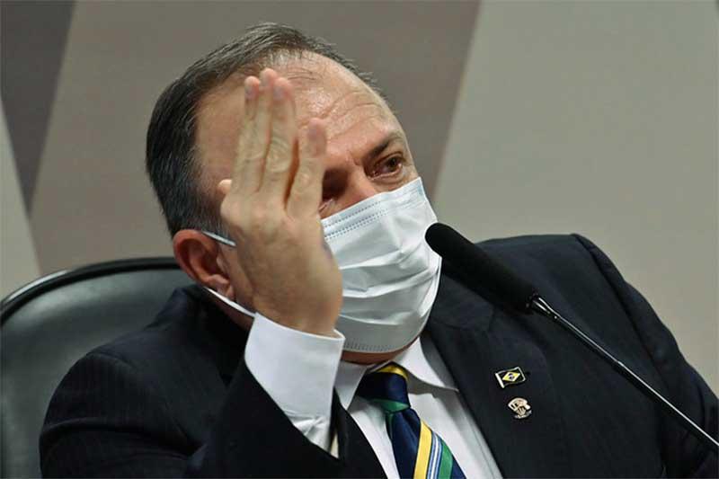 Eduardo Pazuello pediu desculpas por não usar máscara (Foto: Leopoldo Silva/Agência Senado)