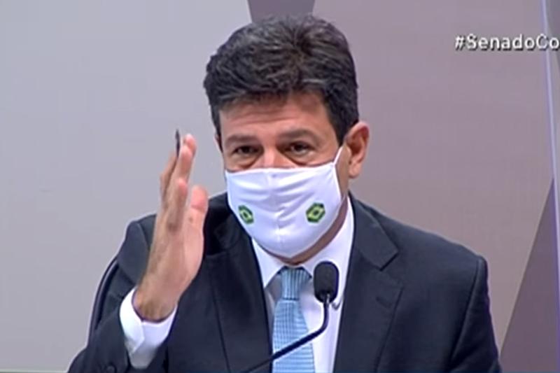 Ex-ministro Luiz Henrique foi o primeiro a depor (Foto: TV Senado/Reprodução)