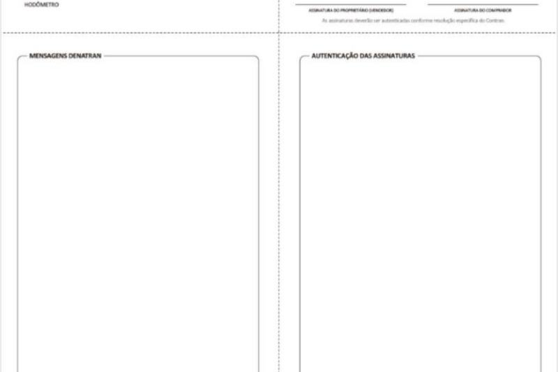 ATPV: novo documento para transferência de veículos comprados a partir de 2021 (Foto: Divulgação/Detran)