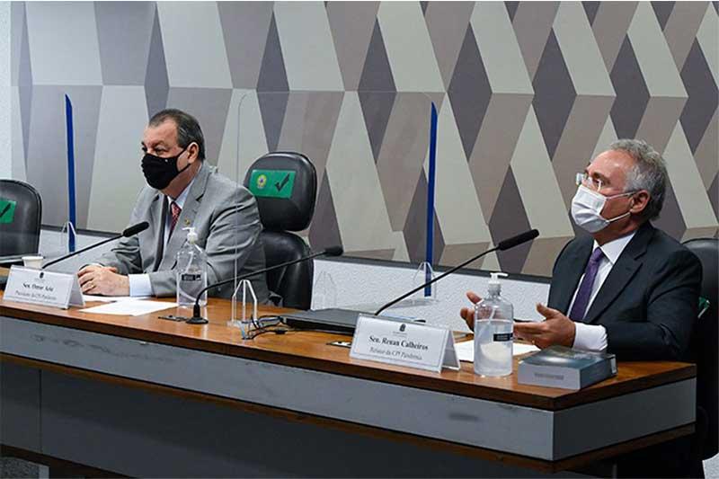 Omar Aziz, presidente da CPI, marcou depoimentos da Anvis a Pfizer (Foto: Edilson Rodrigues/Agência Senado)
