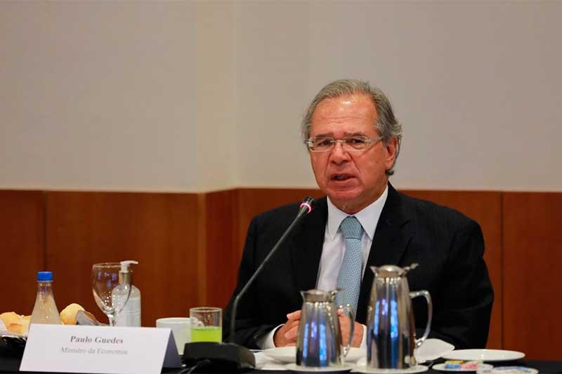 Paulo Guedes participou presencialmente (Foto: Ministério da Economia/Divulgação)