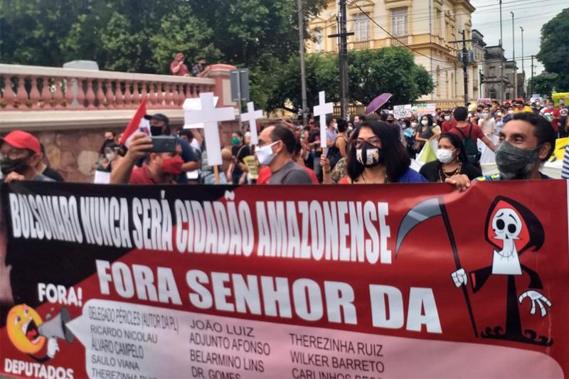 Manifestantes contra Bolsonaro 29 05 2021