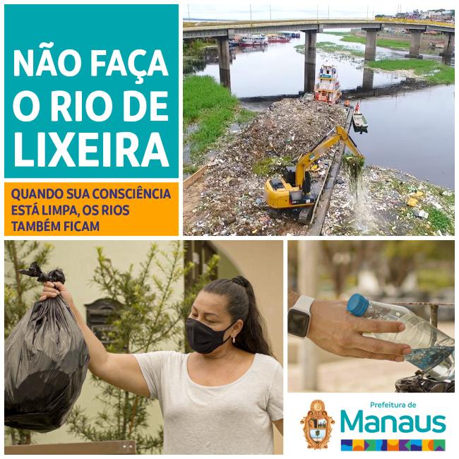 Rio não é lixeira