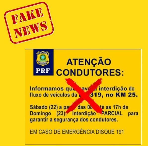 interdição fake news