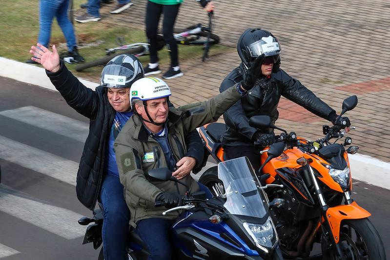 Jair Bolsonaro em motociata em SC (Foto: Divulgação/Palácio do Planalto)