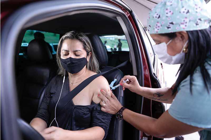Aplicação de vacina: postos em Manaus não funcionam nesta segunda (Foto: Altemar Alcântara/PMM Semcom)