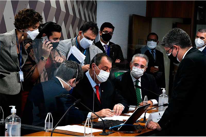 Líderes da CPI da Covid receberam notificação do STF (Foto: Edilson Rodrigues/Agência Senado)