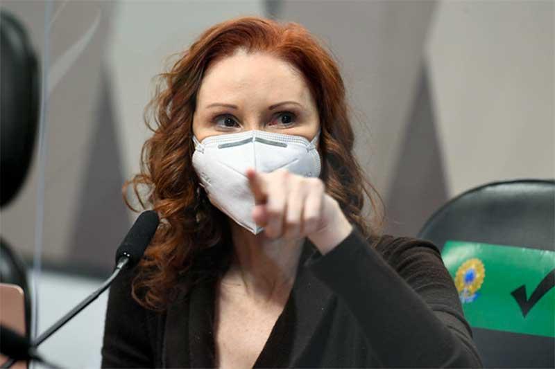 Cientista Natalia Pasternak criticou negacionismo do governo (Foto: Jefferson Rudy/Agência Senado)