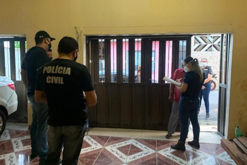 Polícia cumpre mandado de busca e apreensão na Operação Lâmia (Foto: Divulgação/PC)