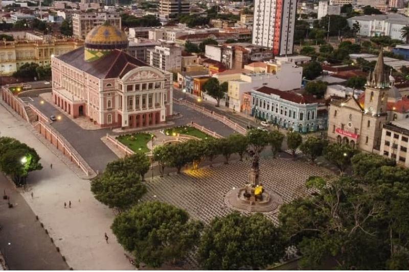 Visitiação no Teatro Amazonas está liberada apenas por agendamento (Foto: Michael Dantas)