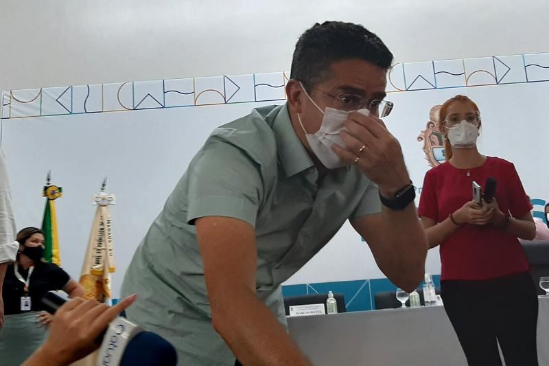 David Almeida fez balanço do mutirão de vacina (Foto: Walter Franco/ATUAL)