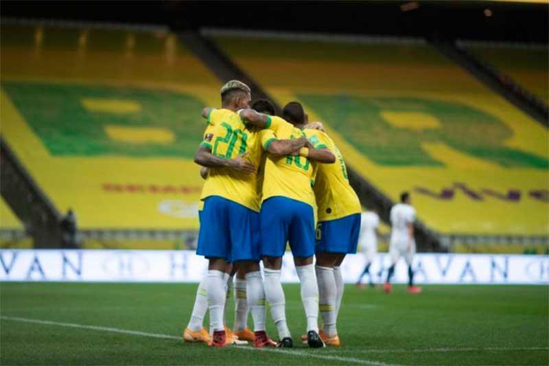 Jogadores da seleção brasileira: risco na Copa América é para todos, diz pesquisador (Foto: Lucas Figueiredo/CBF)