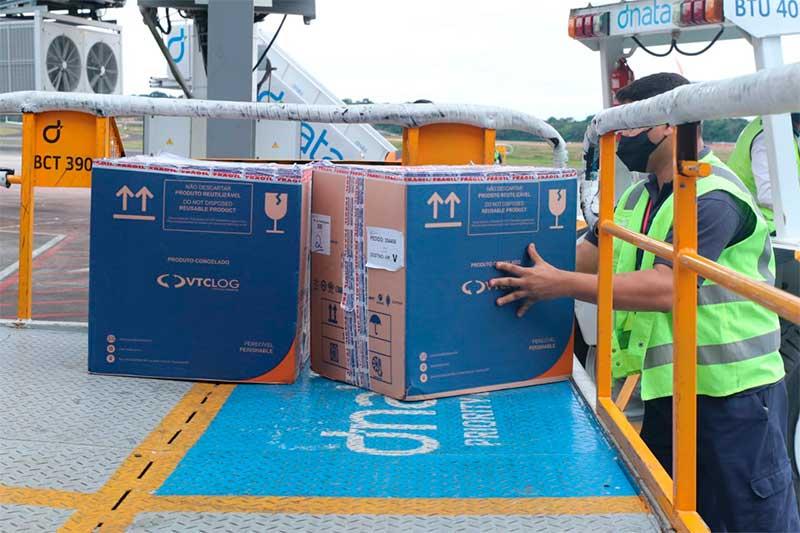 Lote de vacina da Pfizer chega a Manaus (Foto: FVS-AM/Divulgação)