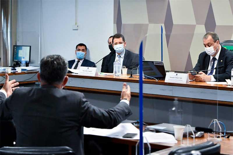 Ex-secretário Marcellus Campêlo depôs na CPI nesta terça-feira (Foto: Waldemir Barreto/Agência Senado)