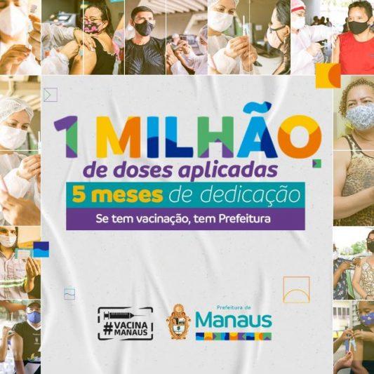 Um milhão de doses de vacina