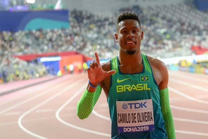Atleta Paulo André Camilo disputa semifinal dos 100m (Foto: Wagner Carmo/CBAt)