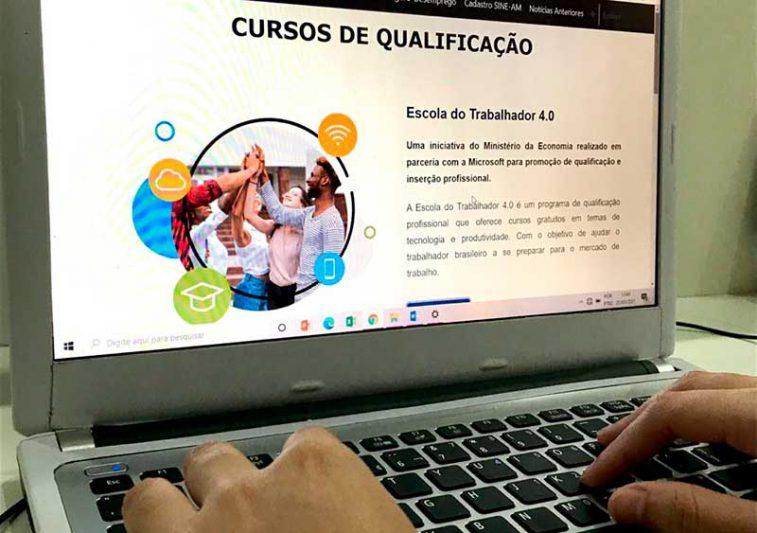 Cursos de qualificação serão totalmente on-line (Foto: Setempi/Divulgação)
