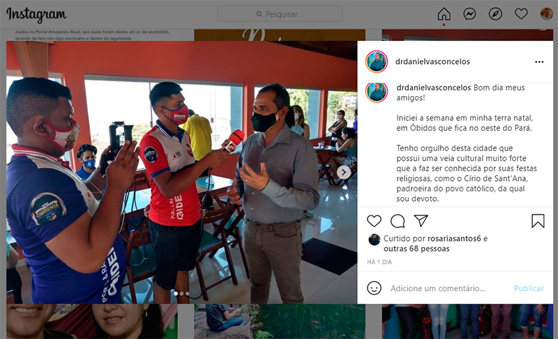 Daniel Vasconcelos no Instagram