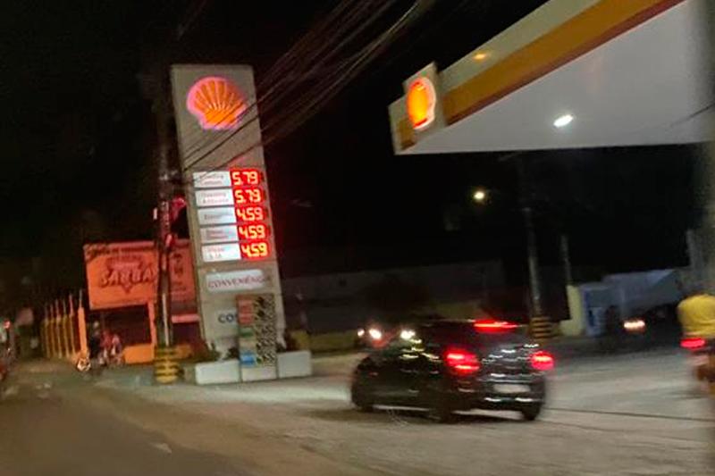 Reajuste da gasolina em Manaus
