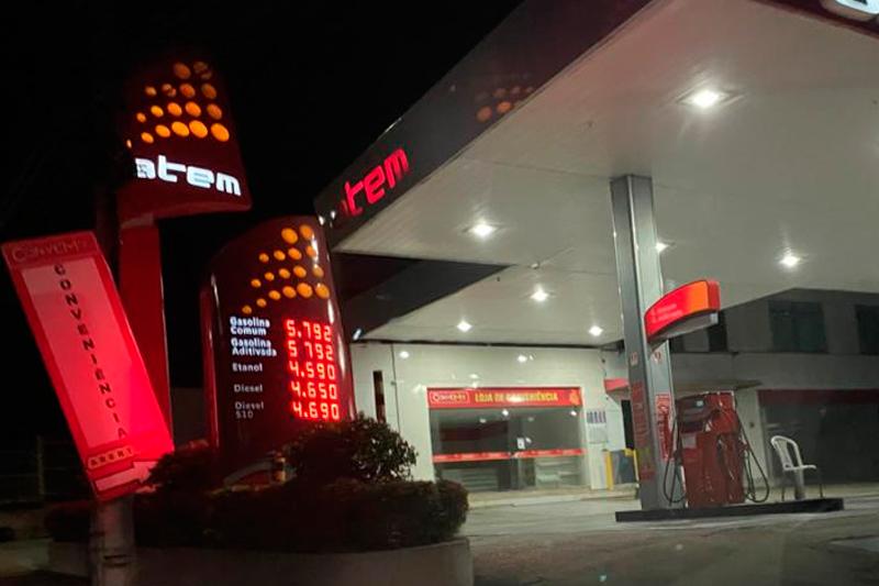 Reajuste da gasolina