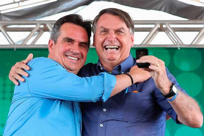 Jair Bolsonaro e Ciro Nogueira: presidente cita PP para se filiar (Foto: Isac Nóbrega/PR)