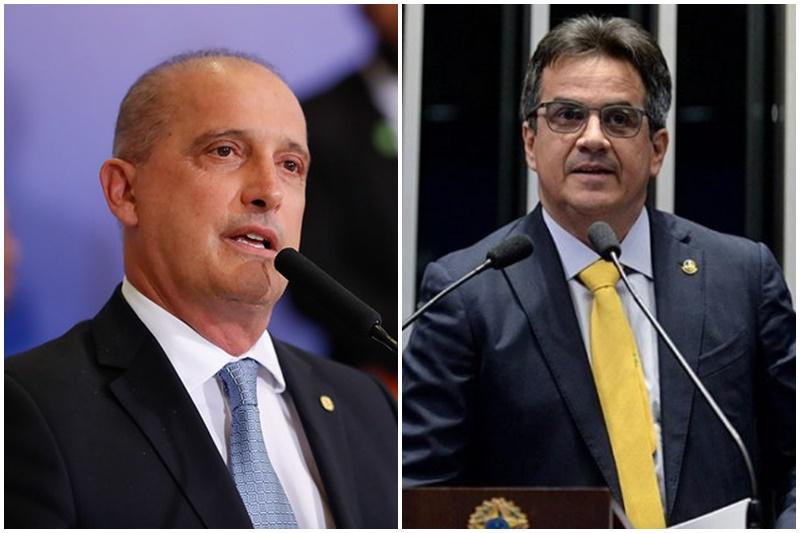 Onyx é o novo ministro do Trabalho e Ciro Nogueira assume Casa Civil (Fotos: Alan Santos/PR e Jefferson Rudy/Agência Senado)