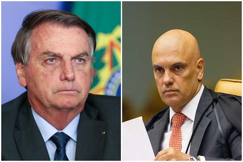 Jair Bolsonaro ameaçou Alexandre de Moraes (Fotos: Rosinei Coutinho/SCO STF e Isaac Nobre/PR)