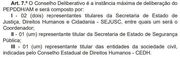 Comitê que integra o programa de proteção a defensores dos direitos humanos (Foto: Reprodução/DOE)