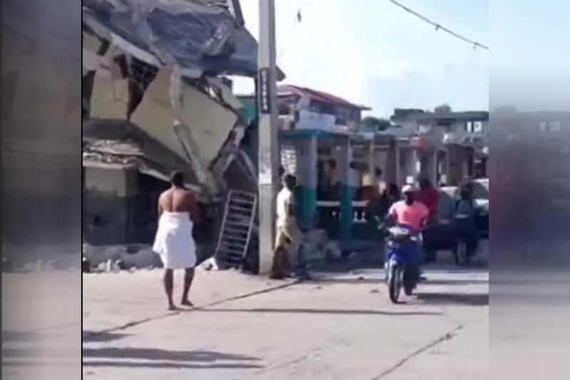 Terremoto foi de 7,2 pontos, mas não há notícias sobre vítimas (Foto: YouTube/Reprodução)