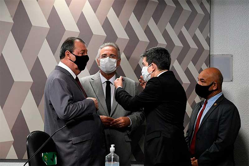Senadores Omar Aziz, Renan Calheiros e Randolfe Rodrigues comandam a CPI (Foto: Edilson Rodrigues/Agência Senado)