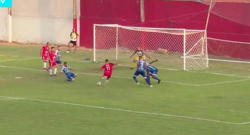 Zé Arthur marca o segundo gol do 4 de Julho (Foto: Reprodução/Elevensports)