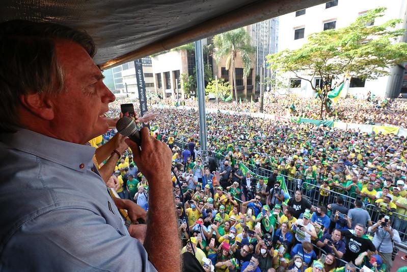 Presidente Jair Bolsonaro na Paulista