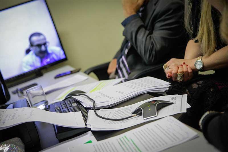Depoimento por videoconferência: sistema expôs abusos no Judiciário (Foto: TJAM/Divulgação)