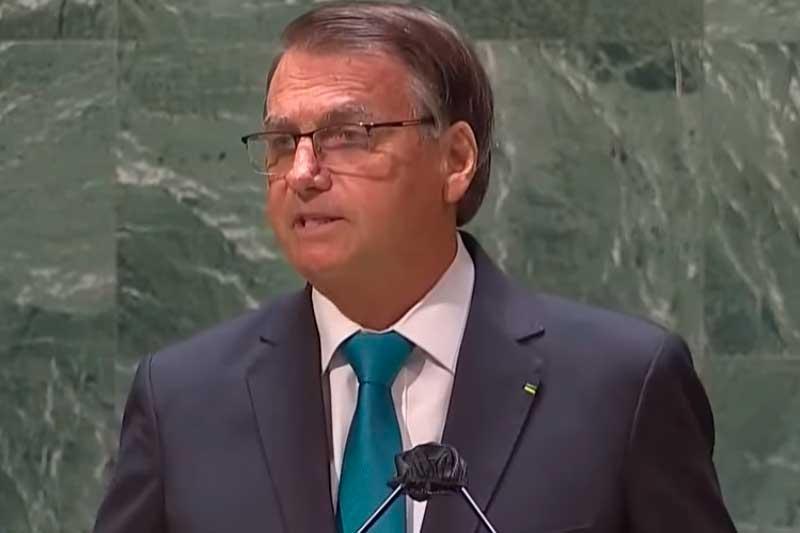 Presidente Jair Bolsonaro abriu Assembleia Geral da ONU (Foto: TV Brasil/Reprodução)