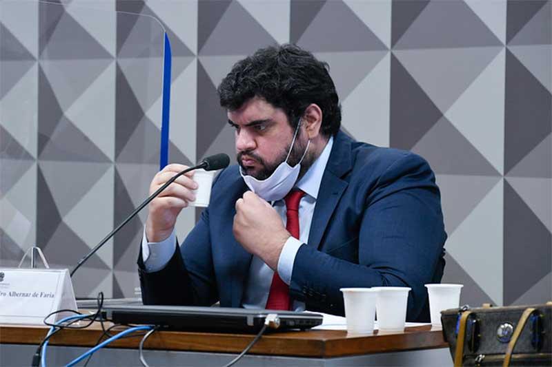 Marconny Nunes Ribeiro Albernaz de Faria irritou os senadores na CPI (Foto: Roque de Sá/Agência Senado)
