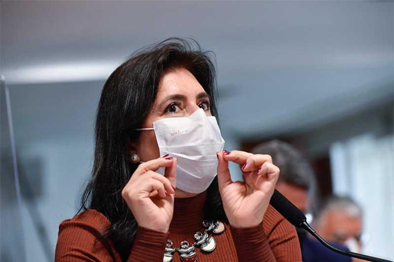 Simone Tebet foi chamada de 'descontrolada' por ministro (Foto: Leopoldo Silva/Agência Senado)