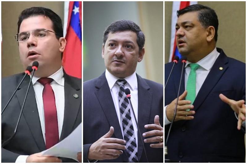 Wilker Barreto, Felipe Souza e Dermilson Chagas trocaram insultos (Fotos: Márcio Gleyson, Danilo Mello e ALE-AM/Divulgação)
