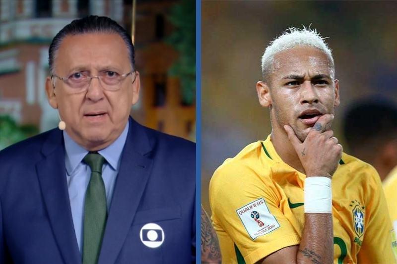 Montagem Neymar e Galvão Bueno